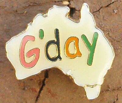G'Day Inside Australian Flag  Pin badge 25mm x 22mm