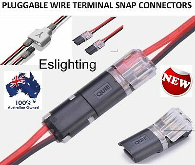 8X 12V Wire Cable Snap Plug In Connector Terminal Connections Joiners Car Auto