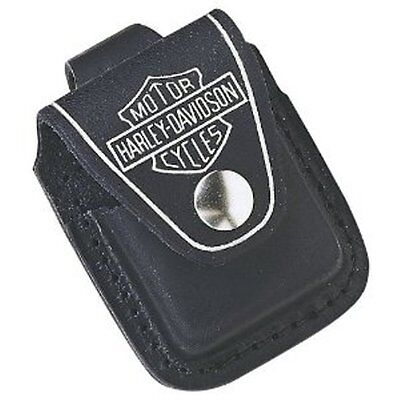 Harley Davidson Zippo Lighter Pouch Leather New Motorcycle Snap Closure