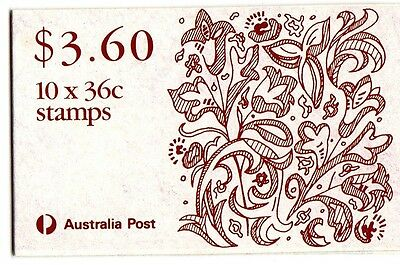 1989 CHRISTMAS AUSTRALIAN STAMP BOOKLET 10 x 36c STAMPS MUH