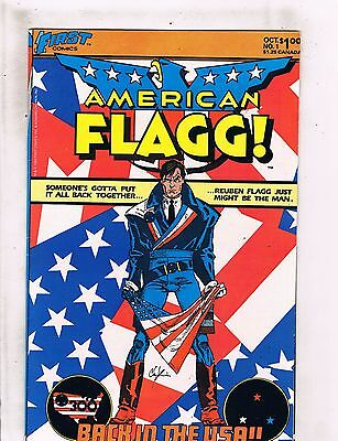 Lot of 9 American Flagg First Comic Books #1 2 3 5 6 7 8 9 10 WT5