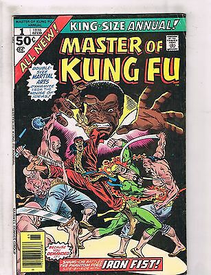 Lot Of 3 Master Of Kung Fu Marvel Comic Books Giant Size # 3 4 + # 1 Annual WT4