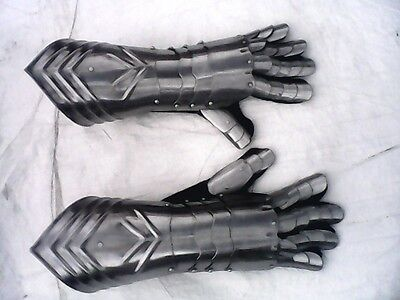 Medieval Armour steel gloves gauntlet ancient armour gothic gloves /  free PP