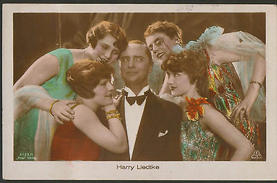 HARRY LIEDTKE 1920s RARE VINTAGE TINTED POSTCARD PHOTO ROSS 3123/1