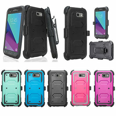 Galaxy J3 Emerge, J3 Prime, J3 2017 TG Screen Protector Holster Case Cover