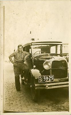 RA931 Early RP POSTCARD - Vintage Ford Model A Car