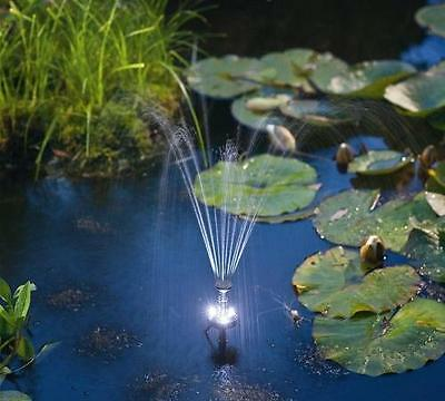 1.6W 180LPH Solar Panel POND WATER Fountain Feature PUMP Timer Battery LED Light
