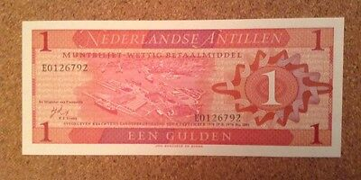 Netherlands Antilles Banknote. 1 Gulden. Dated 1970