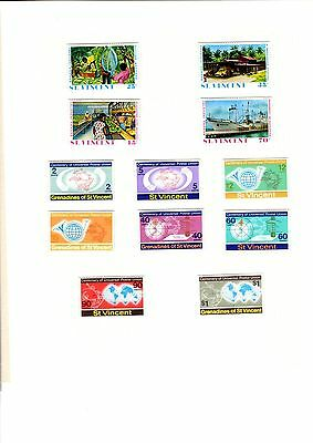 Stamps St Vincent & the Grenadines 12 on page with centenary of postal union