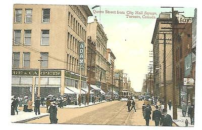 TORONTO CANADA  POSTCARD.......  VIEW OF QUEEN ST  from CITY HALL SQUARE.