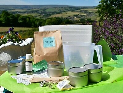Soy Candle Making Kits with top quality wax and paraben free fragrance oils
