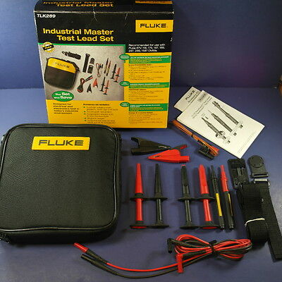 Brand New Fluke TLK289 Industrial Master Test Lead Set, Original Box, Soft Case