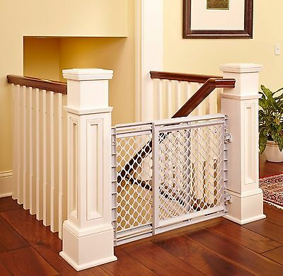 Baby Safety Gate Expandable Top Of Stairs Heavy Duty Portable Indoor Protection