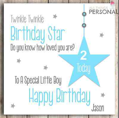 Personalised boys 1st birthday card son grandson nephew godson first personalised birthday card boy son grandson godson brother nephew 1st 2nd 3rd bookmarktalkfo Images