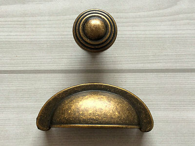 "2.75"" Bin Cup Dresser Drawer Pull Handle Vintage Style Antique Brass 2 3/4"" 70"