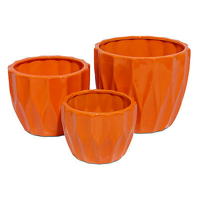 Ceramic planter round flowerpot Amsterdam, available in 3 sizes and 7 colours