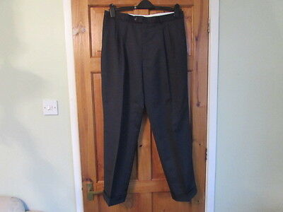 NEW horne bros northern soul / 50s twin pleated turn up trousers W 36 X L 30