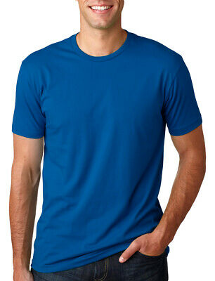 Next Level Premium Crew T-Shirt Mens Soft Fitted Basic Plain Tee Shirt. 3600
