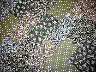 """40 x 5"""" CHARM PACK GREEN 100% COTTON PATCHWORK/QUILTING/CRAFTS GRP"""