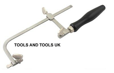 JEWELLER PIERCING SAW FRAME 80 mm JEWELLERS HAND TOOL ADJUSTABLE+ FREE 12 BLADES