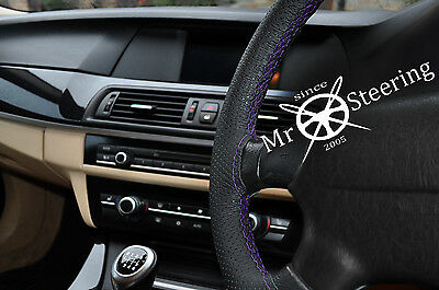 FOR VW LUPO 1998-05 PERFORATED LEATHER STEERING WHEEL COVER RED DOUBLE STITCHING