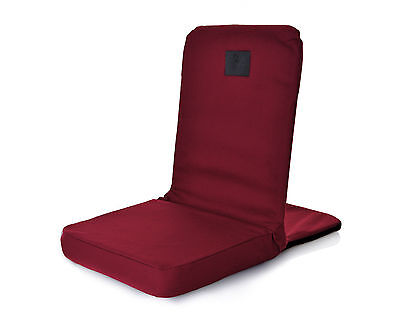Omlove Maroon Folding & Reclining Yoga Meditation Floor Chair Seat back Support