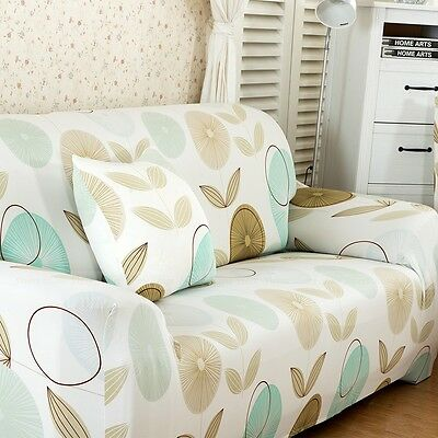 1/2/3 Seater Stretch Slipcover Sofa Protector Lounge Slip Cover Pastoral Style