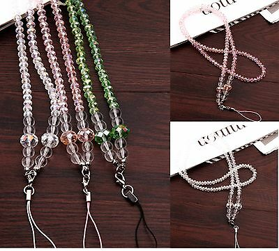 Neck Bling Crystal Lanyard& Retractable Id Name Card Badge Reel Phone Key Holder
