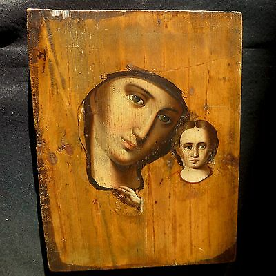 Alte Ikone; Old Icon; Russland Russia Greece; Muttergottes Jesus Orthodox 19.jh.