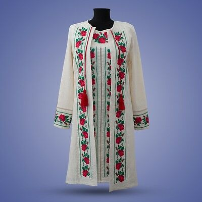 Ukrainian embroidery, embroidered dress 2in1 , S - 2XL+