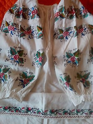 Ukrainian vintage(1920-1940y) embroidered dress, S-L, handiwork, Ukraine
