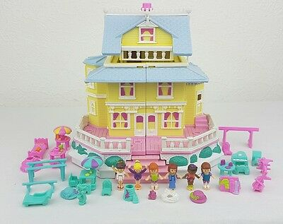 Vintage Polly Pocket Clubhouse 100%Complete  Excellent condition 1994