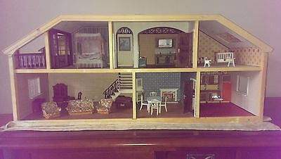 Vintage 1970's Lundby Dolls House and Furniture