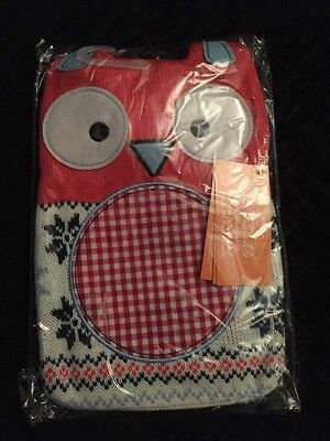 Hot Buddies Knitted Cover Red Vintage Owl Hot Water Bottle: 750ml