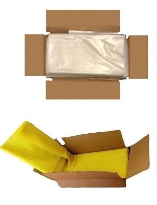 Strong Heavy Duty Clear Yellow Plastic Rubble Bags/Sacks Builders Bags Compactor