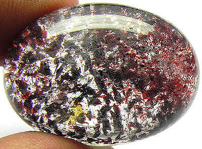 57.20Cts Very Beautiful 100% Natural Transparent Lepidocrocite Strawberry Quartz