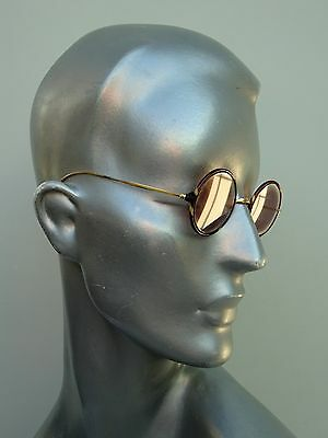 A Pair of Original Faux Tortoiseshell Gold Glasses 1920's by Rayner Round Sun