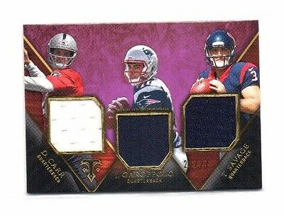 2014 Topps Triple Threads, Trio Relic, (Purple), 20/27 !! Derek Carr (Rookie) !!