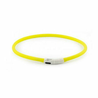 Ancol Pet Products Usb Rechargeable Night Time Safety Halo Yellow 70cm