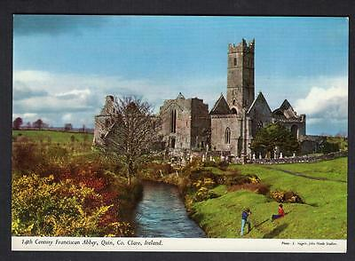 """14th CENTURY FRANCISCAN ABBEY, QUIN, Co. CLARE"" Postcard Ireland Co. CLARE"