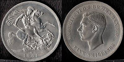 narkypoon's Brilliant UNCIRCULATED **PROOF** George VI Festival of Britain Crown