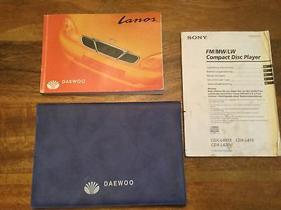 Daewoo Lanos Owners Manual pack with wallet 1997-2005 1.3. 1.5. 1.6