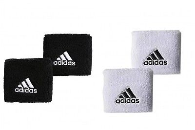 New Adidas Single Width  Wristbands In  Black Or White Tennis Running Gym Sports