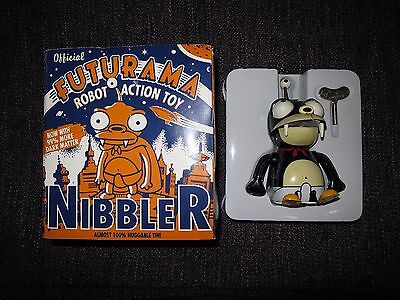 Official Futurama Nibbler Wind Up Tin Robot Action Toy Boxed With Key