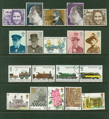 Great Britain 1967-1977: Group of 40 Used Stamps #653/808; Many Topics-Lot#1/30