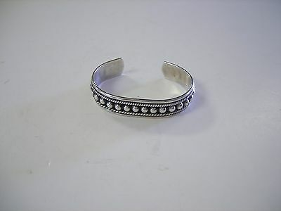 Sterling Silver Cuff  Bracelet  TJ - 64 Mexico  925  6 inches   31.1 Grams