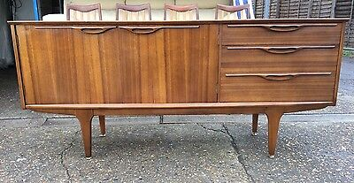 Vintage 1960s Mid Century Small Teak Sideboard by Jentique Danish Style