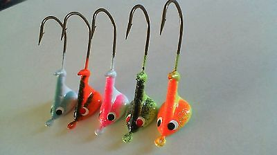 25 - 1/4 oz. STAND UP JIG HEADS WALLEYE BASS *2 Color* 3/0 Hook