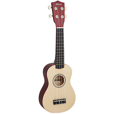 Groov-e Ukulele Soprano, Acoustic, Basswood Body, Nato Top, 54cm Length, Natural