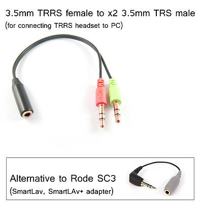 Rode SC3 ALTERNATIVE, 3.5mm TRRS female to 3.5mm TRS male (for SmartLav+)